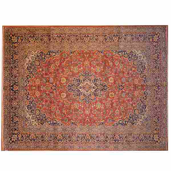 Kashan Carpet, Persia, 9 x 11.10