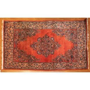 Semi-Antique Sarouk Mahal Rug, 4.3 x 7.1