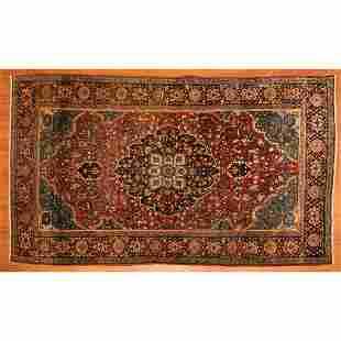 Antique Farahan Sarouk Rug, Persia, 4.2 x 6.7