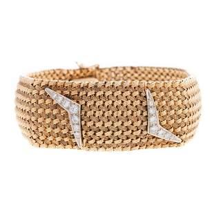 A 14K Covered Diamond Wrist Watch by Longines