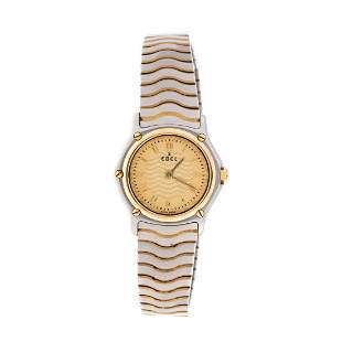 """An 18K & Stainless """"Wave"""" Wrist Watch by Ebel"""