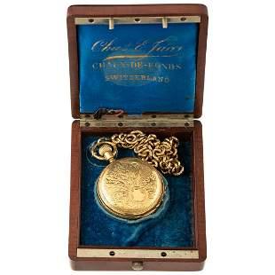 A Paul Rochat 18K Hunter Case Pocket Watch