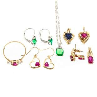 A Collection of Jewelry Including Pendants & Ring