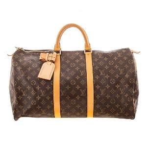 A Louis Vuitton Keepall 50