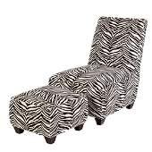 Lee Industries Zebra Print Chair & Ottoman