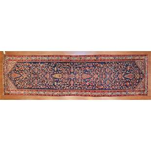 Antique Malayer Runner, Persia, 3.11 x 14.3