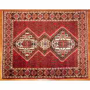 Hamadan Rug, Persia, 5.3 x 6.5