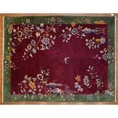 Antique Nichols Rug, China, 9.1 x 11.9