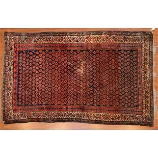 Antique Hamadan Rug, Persia, 4.4 x 6.11