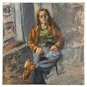 Raoul Middleman. Portrait of an Artist, oil