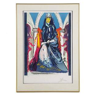 "Salvador Dali. ""Lady Blue-The High Priestess"""