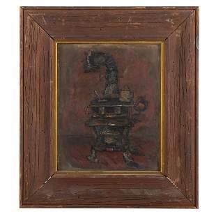 Edward Rosenfeld. Cast Iron Stove, oil