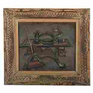 Edward Rosenfeld. Sewing Machine, oil