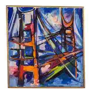 Virginia Evans Smit. Brooklyn Bridge, oil