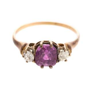 A Late Victorian Ruby & Diamond Ring in 15K