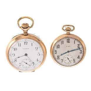 Two Pocket Watches, Waltham & Elgin