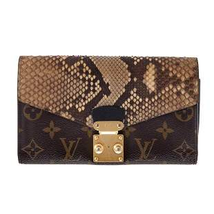 A Louis Vuitton Python Monogram Pallas Wallet
