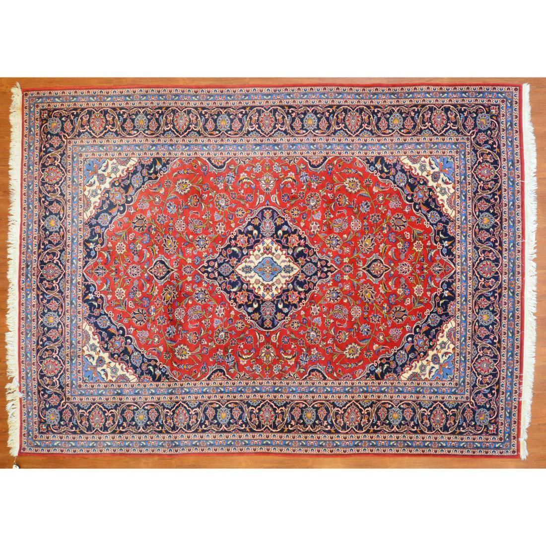 Kashan Rug, Persia, 8.1 x 11