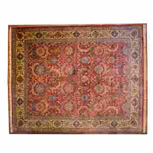 Indo Bakshaish Heriz Carpet, India, 11.9 x 14.8