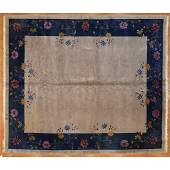 Antique Nichols Carpet, China, 10 x 11.9
