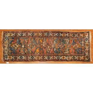 Antique Kazak Runner, Caucasus, 3,7 x 9.4