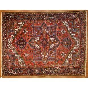 Heriz Carpet, Persia, 9 x 11.9