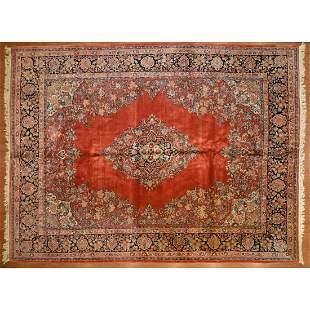 Semi-antique Sarouk Carpet, Persia, 10.4 x 14.2