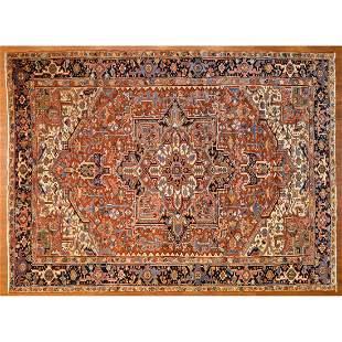 Semi-Antique Heriz Rug, Persia, 8.5 x 11.5