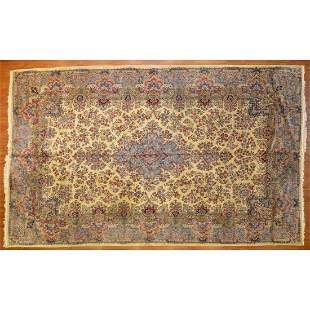 Semi-Antique Kerman Carpet, Persia, 9.10x16