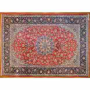 Keshan Carpet, Persia, 9.8 x 13.5