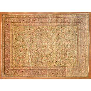 Semi-Antique Kerman Rug, Persia, 8.6 x 11.2