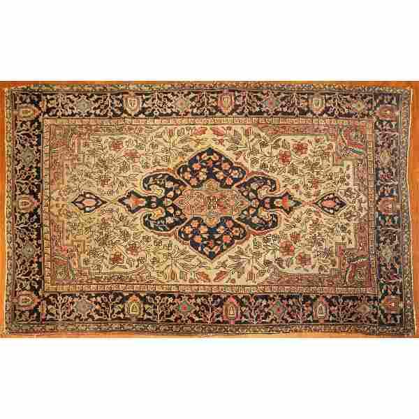 Antique Feraghan Sarouk Rug, Persia, 3.4 x 5