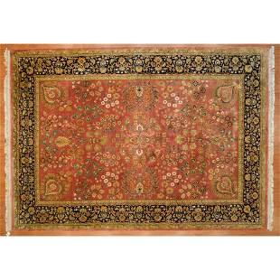 Indo Mahal Carpet, India, 10.1 x 14.3