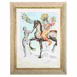 "Salvador Dali. ""The Harbinger,"" lithograph"
