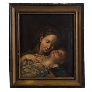 Italian School, 19th c. Madonna and Child, oil