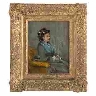 French School, late 19th c. Portrait of a Lady