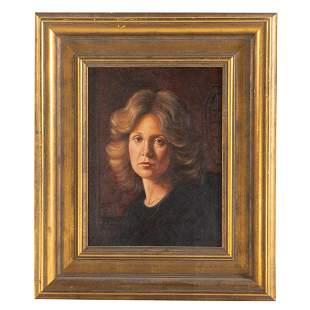 David Zuccarini. Portrait of a Lady, oil on board
