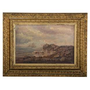 John I. Coggeshall. New England Coastline, oil