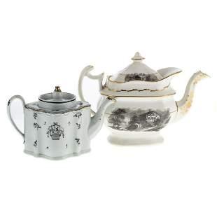 Two English China Teapots