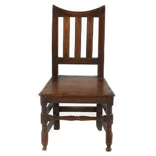 English Oak Slat Back Chair