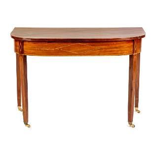 Federal Inlaid Mahogany Banquet Table Section