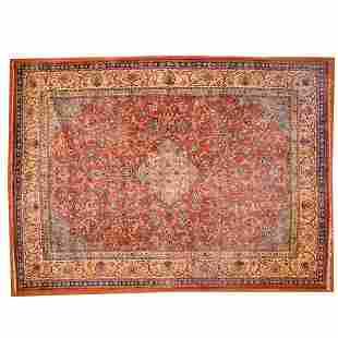 Sarouk Carpet, Persia, 9.1 x 12.5