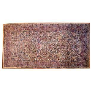 Antique Lavar Kerman Carpet, Persia, 10 x 18