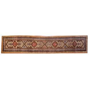 Antique Camel Hair Serab Runner, Persia 3.4 x 17.2