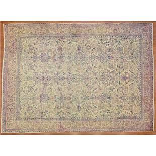 Antique Lavar Kerman Carpet, Persia, 8.9 x 12