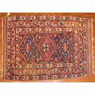 Antique Afshar Rug, Persia, 4.4 x 5.6