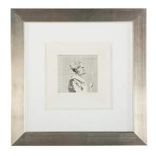 "David Hockney. ""The Cook,"" etching"