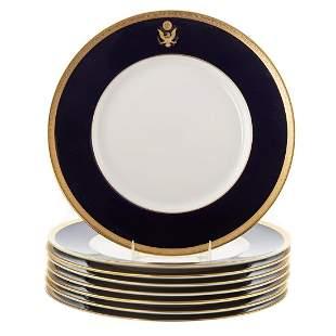Eight Syracuse China Presidential Dinner Plates