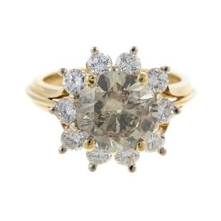 A 2.51 ct Champagne Diamond Ring in 18K