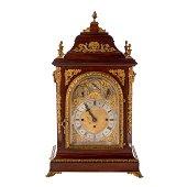 George III Style Mahogany Mantle Clock